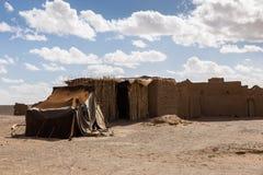 Berber house in the desert Sahara. House Berber in the Sahara desert, Morocco Royalty Free Stock Photo