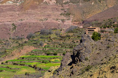Berber house in Morocco Atlas mountains Stock Images