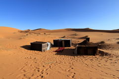 Berber hut in desert. At sunny and hot day Royalty Free Stock Photography