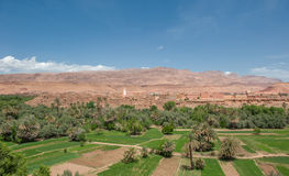 Berber kasbah στο φαράγγι Todra, Μαρόκο Στοκ Εικόνες