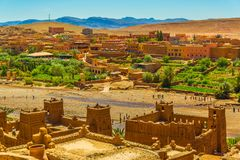 Ait Ben Haddou ksar UNESCO world heritage site Morocco. Berber little town in Morocco, near Atlas mountains, that is an UNESCO world heritage site; typical royalty free stock photography