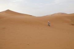 Berber man and dunes Stock Photography