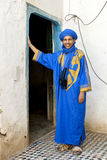 A Berber man in Rissani in Morocco. Royalty Free Stock Images