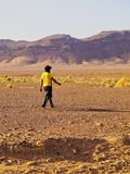 Berber Man on Zagora Desert in Morocco Stock Photo