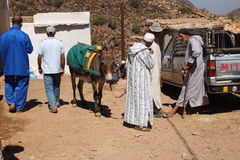 Berber market Royalty Free Stock Images
