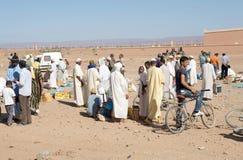 Berber men at the dates fruit market Royalty Free Stock Photography