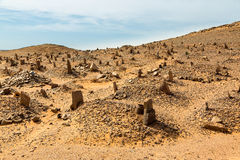 Berber old cemetery on the edge of Sahara desert in Morocco. Royalty Free Stock Image