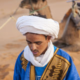 Berber people. HASSILABIED, MOROCCO - CIRCA SEPTEMBER 2014: Berber people circa September 2014 in Hassilabied Stock Photo