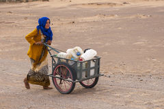 Berber people. HASSILABIED, MOROCCO - CIRCA SEPTEMBER 2014: Berber people circa September 2014 in Hassilabied Stock Images