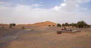 Berber people. Nice Erg Chebbi in Morocco Stock Photo