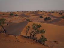 Berber que camina en el desierto Foto de archivo libre de regalías