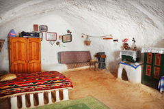Berber room. Berber house in Sahara Desert, Tunisia, Africa Stock Photo