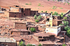 Berber rural architecture of Atlas Mountains region in Morocco Royalty Free Stock Photography