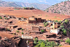 Berber rural architecture of Atlas Mountains region in Morocco Stock Photography