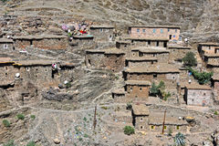 Berber rural architecture of Atlas Mountains region in Morocco Royalty Free Stock Images