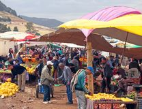 Tuesday Souk In Azrou, Morocco. The Berber Souk in Azrou, Morocco is a weekly market that takes place on Tuesdays. It sells livestock, fruits, vegetables, old royalty free stock images