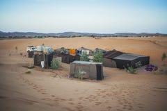 Berber tent camp in the Sahara. Berber tents in the Sahara, Morocco Stock Photos