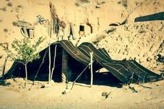 A Berber tent in Matmata, Tunisia. A Berber typical  tent in Matmata Tunisia Africa Stock Images