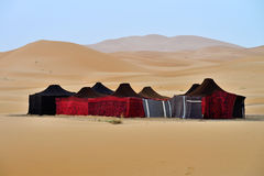 Berber tents. In the Sahara, Morocco Royalty Free Stock Photography