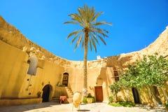 Berber underground dwellings. Matmata, Tunisia, North Africa. Courtyard of berber underground dwellings. Matmata, Tunisia, North Africa Royalty Free Stock Images
