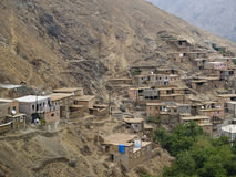 Berber village. Small berber village in the Atlas mountain, Morocco Stock Image