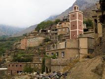 Berber village in Atlas. Beauty Berber village in Atlas mountain, rainy day. Morocco Royalty Free Stock Photos