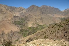 Berber Village in the High Atlas Montains Stock Photography