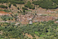 Berber village in Morocco Atlas mountains Stock Photos