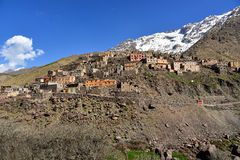 Berber village Toubkal national park Stock Photography