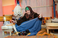 Berber weaver Royalty Free Stock Photos