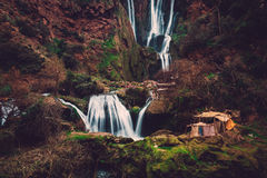 Berber wioska blisko Ouzoud siklawy w Maroko Fotografia Stock