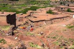 Berber wioska w atlant górach, Maroko Zdjęcie Royalty Free