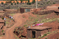Berber wioska w atlant górach, Maroko Obraz Stock
