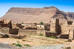 Berber wioski w pustynnym Morocco Zdjęcia Royalty Free