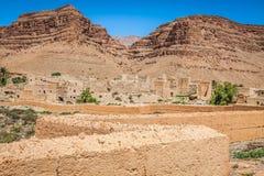 Berber wioski w pustynnym Morocco Zdjęcie Royalty Free