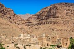 Berber wioski w pustynnym Morocco Fotografia Stock
