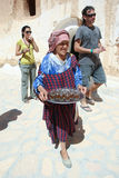Berber woman with drinks Stock Photos