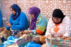 Berber women working, Morocco Stock Image