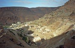 Berberby, Chenini, Tunisien Royaltyfri Foto