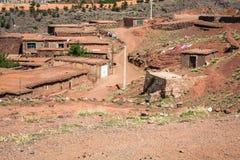 Berberby i kartbokberg, Marocko Royaltyfri Foto
