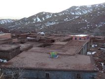 Berberby i kartbokberg morocco Fotografering för Bildbyråer