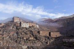 Berberdorp in Atlas. Marokko Stock Afbeelding