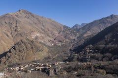 Berberdorp in Atlas. Marokko Royalty-vrije Stock Foto's
