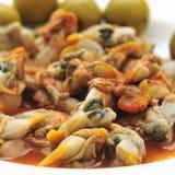 Berberechos, Spaanse kokkels, die als voorgerecht worden gediend royalty-vrije stock foto