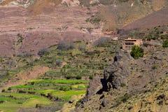 Berberhus i Marocko kartbokberg Arkivbilder