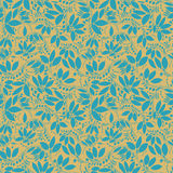 Berberitzenbeernahtloses Muster Schattenbild der Beere oder der Anlagen Lizenzfreies Stockbild