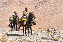 Berbers коренной народ к горам атласа Марокко Стоковая Фотография RF