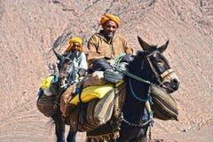 Berbers коренной народ к горам атласа Марокко Стоковое Фото