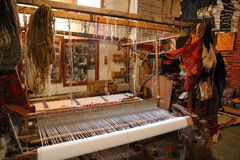 Berbers tradional Carpets work shop Stock Images