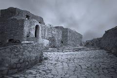 Berberwillageplats i svartvitt royaltyfria bilder